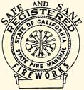 Safe and Sane Registered Fireworks